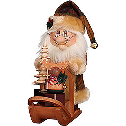 Smoker - Gnome Santa with Sledge - 28 cm / 11 inch