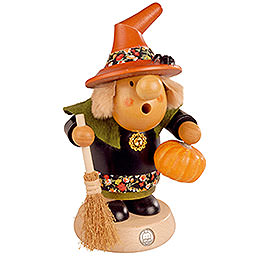 Smoker - Halloween Witch with Pumpkin - 11 cm / 4 inch