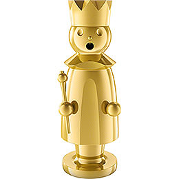 Smoker - King - Stainless Steel, Gold-Plated - 15 cm / 5.9 inch