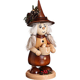 Smoker - Lady Gnome with Cooking Pot, Natural - 25 cm / 10 inch