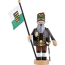 Smoker - Miner with Flag - 20 cm / 8 inch