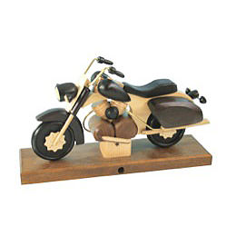 Smoker - Motorcycle Chopper Black 27x18x8 cm / 11x7x3 inch