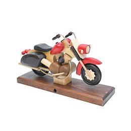 Smoker - Motorcycle Chopper Red 27x18x8 cm / 11x7x3 inch