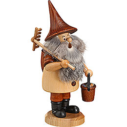 Smoker - Mountain Gnome with Rake - 18 cm / 7 inch