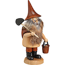 Smoker - Mountain Gnome with Shovel - 18 cm / 7 inch