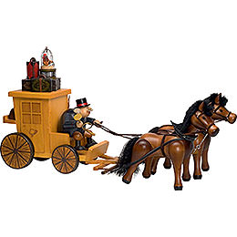 Smoker - Post Horse and Carriage - Edge Stool - 32x70 cm / 13x28 inch