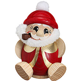 Smoker - Santa Claus Red-Gold - Ball Figure - 11 cm / 4.3 inch
