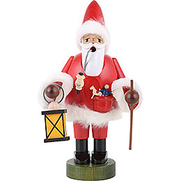 Smoker - Santa Claus with Lantern - 21 cm - 8 inch