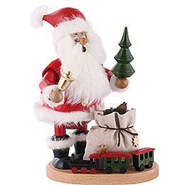 Smoker - Santa Claus with Railway - 22 cm / 9 inch