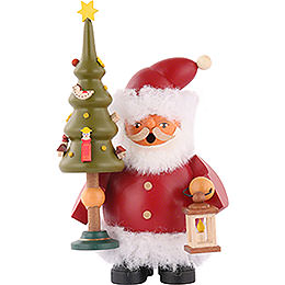 Smoker - Santa Claus with Tree - 14 cm / 5.5 inch