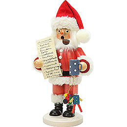 Smoker - Santa Claus with Wishlist - 26 cm / 10 inch
