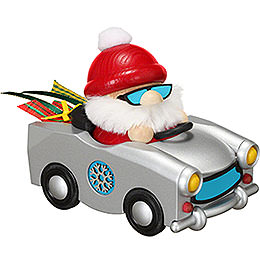 Smoker - Santa in Trabi - Ball Figure - 12 cm / 4.7 inch