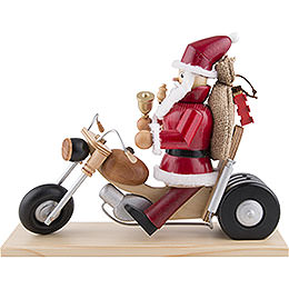 Smoker - Santa on Motorbike - 21 cm / 8 inch