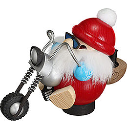 Smoker - Santa on Motorbike - Ball Figure - 11 cm / 2 inch