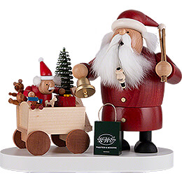 Smoker - Santa with Child - 21 cm / 8.3 inch