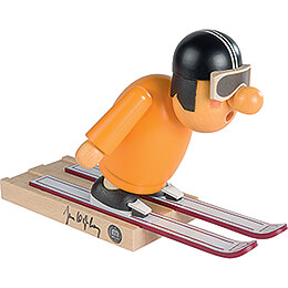 Smoker - Ski Jumper with original Signature by Jens Weißflog - 16 cm / 6.3 inch