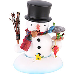 Smoker - Snowman with Bird House - 15 cm / 6 inch