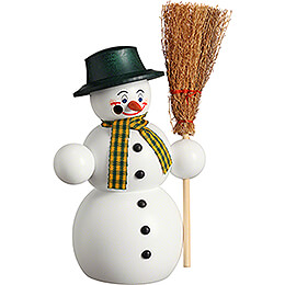 Smoker - Snowman with Broom - 16 cm / 6.3 inch