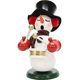 Smoker - Snowman with Drum - 23,5 cm / 9.2 inch