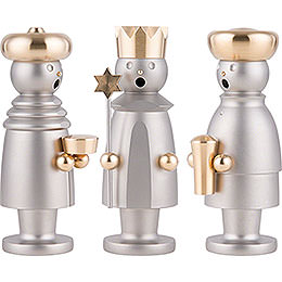 Smoker - The Three Wise Men - Stainless Steel, Glass Bead blasted - 15 cm / 5.9 inch