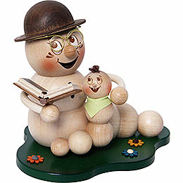 Smoker - Worm Grandad-Worm Rudi with Grandchild - 14 cm / 5.5 inch
