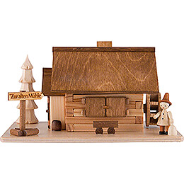 Smoking Hut - Old Mill with Wanderer - 10 cm / 4 inch