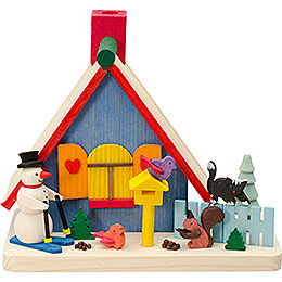 Smoking Hut - Snowman - 11 cm / 4.3 inch