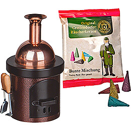 Smoking Stove - Brewing Kettle Brown - 13 cm / 5.1 inch