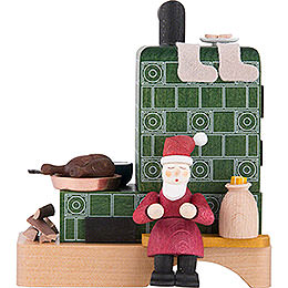 Smoking Stove with Santa - 13 cm / 5.1 inch