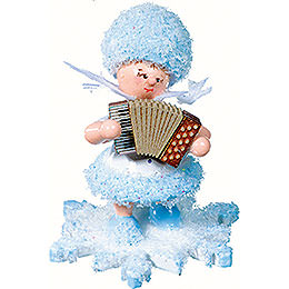 Snowflake with Accordion - 5 cm / 2 inch