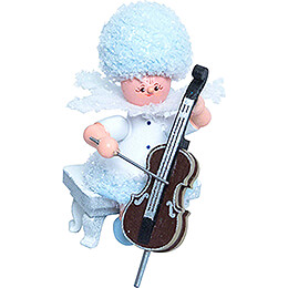 Snowflake with Cello - 5 cm / 2 inch