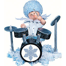 Snowflake with Drum Set - 5 cm / 2 inch