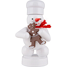 Snowman Baker with Gingerbread Woman - 8 cm / 3.1 inch