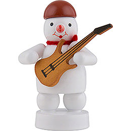 Snowman Musician with Electric Guitar - 8 cm / 3 inch