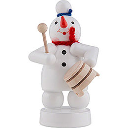 Snowman Musician with Pot - 8 cm / 3 inch