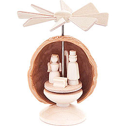 Thermic Nutshell-Pyramid with Nativity - 5,5 cm / 2.2 inch