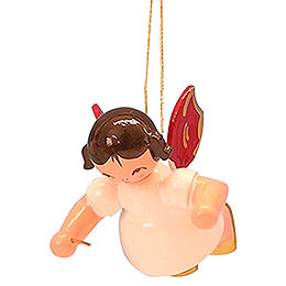 Tree Ornament - Angel Conductor - Red Wings - Floating - 5,5 cm / 2,1 inch