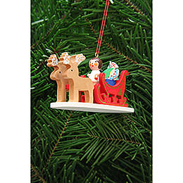 Tree Ornament - Angel in Reindeer Sleigh - 9,7 cm / 3.8 inch