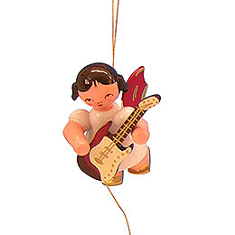 Tree Ornament - Angel with Electric Guitar - Red Wings - Floating - 5,5 cm / 2,1 inch