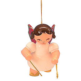 Tree Ornament - Angel with Triangle - Red Wings - Floating - 5,5 cm / 2,1 inch