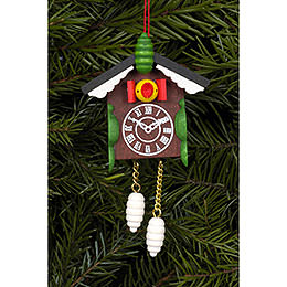 Tree Ornament - Cuckoo Clock - 5,7x8,8 cm / 2x3 inch