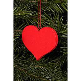 Tree Ornament - Heart Red - 5,7x4,5 cm / 2x2 inch