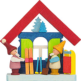 Tree Ornament - House Dwarves with Ski - 7,4 cm / 2.9 inch