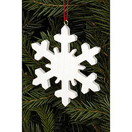 Tree Ornament - Icecrystal Natural - 6,6x6,6 cm / 2.6x2.6 inch