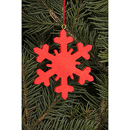 Tree Ornament - Icecrystal Red - 6,6x6,6 cm / 2.6x2.6 inch