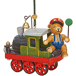 Tree Ornament - Loco with Teddy - 5 cm / 2 inch