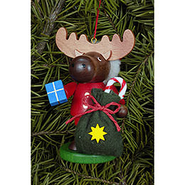Tree Ornament - Moose Santa - 9,5 cm / 4 inch
