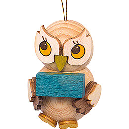 Tree Ornament - Owl Child with Present - 4 cm / 1.6 inch