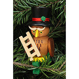 Tree Ornament - Owl Chimney Sweep on Clip - 5,0x7,3 cm / 2.1x2.9 inch
