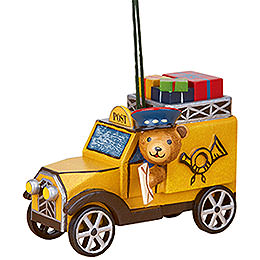 Tree Ornament - Post Truck with Teddy - 8 cm / 3 inch